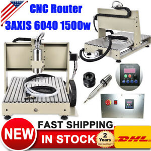 1500W VFD 6040 3AXIS CNC Router Engraver Machine 3D Cutter Woodworking Engraving