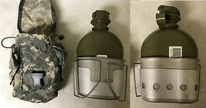 US Military Issue 1 Qt Canteen Set - 4 PieceCanteenCupStand & ACU Cover
