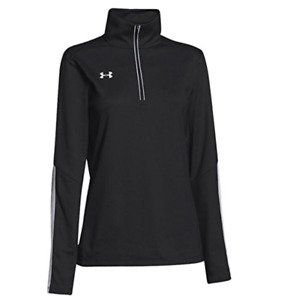 Under Armour Womens Qualifier 14 Zip Pullover Loose Black Top Size XL NEW!