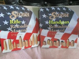 2 BOOKS: Sierra Rifle and Handgun Reloading Manual 3rd Edition (Ring-bound)