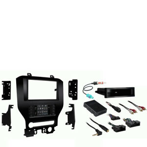 Ford Mustang 2015-2017 Single or Double DIN Stereo Install Dash Kit w 8