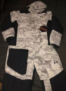 NEW Under Armour Infrared Hunting Coverall Snow Bib Winter Camo Mens XL