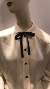 Womens Vintage Silk Escada Designer Blouse Excellent Size 46 NWT