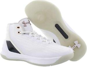 NEW UNDER ARMOUR CURRY 3 Boys Basketball Shoes White Rose Gold SELECT SIZE $44.99