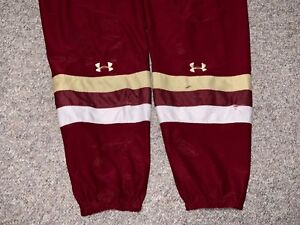 Under Armour Boston College Eagles NCAA Pro Stock Hockey Player Game Socks Large