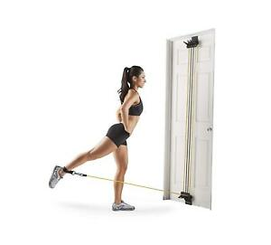 Home Gym Equipment Total Body Fitness Workout Door Attached Resistance Bands New