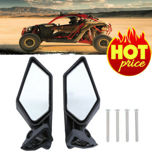 2Pcs Racing Side Mirrors 715002898 Set For Can-Am Maverick X3 Off-road 2017-2018