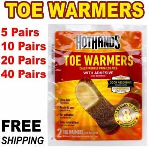 HotHands Toe Warmers with Adhesive 1 5 10 20 40 Pair Safe Natural Odorless Heat