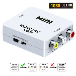 HDMI AV Full 1080P HDMI to RCA Audio Video AV CVBS Adapter Converter For HDTV