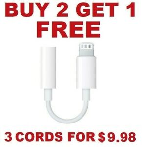 For Apple iPhone Headphone Adapter Jack Lightning to 3.5mm Cord Dongle $4.99