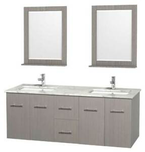 60 in. Double Bathroom Vanity with Undermount Square Sink [ID 3393965]