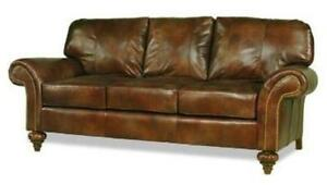 NEW LEATHER SOFA HAND-CRAFTED USA  91