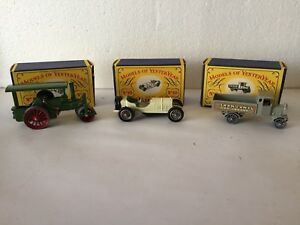 Vintage Near Mint Lesney Models of Yesteryear Trio with Original Boxes