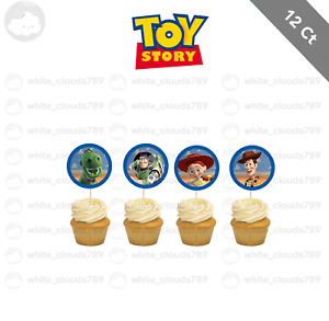12 Disney Toy Story 3 Cupcake Cake Topper Food Pick Favor Birthday Kid