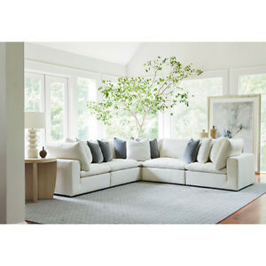 Universal Furniture Curated White Palmer 5 Piece Sectional - 681551-610