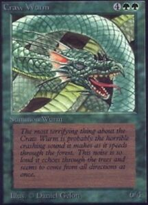 1x Craw Wurm x1 Beta Played, English BFG MTG Magic