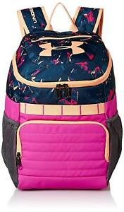 Under Armour Girls' Large Fry SchoolSports Backpack Peach HorizonFluo Fuchsia