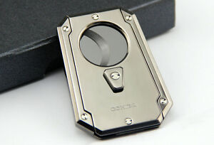 COHIBA Fashion Silver supper quality Cigar Cutter Ceramic sharp Blade sicssors