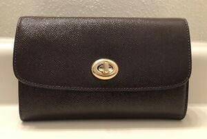 NWT Coach Patent Leather Chain Crossbody Clutch Wristlet - Oxblood