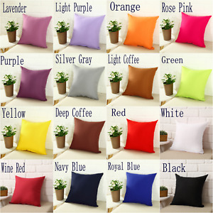 Square Home Office Sofa Pillow Cover Case Cushion Cover Size 16