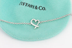 Tiffany & Co. Silver Paloma Picasso Loving Heart Chain 7