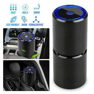 2019 NEW Auto Car LED Fresh Air Purifier Ionizer Odor Remover +Dual USB Charger