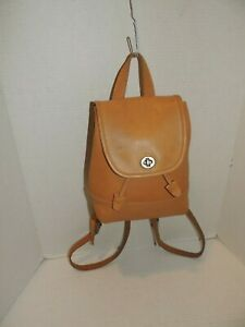 Vintage Coach Backpack in Tan Leather Coach Day Pack Drawstring Bag 9960
