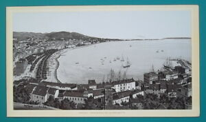 FRANCE Cannes View of Croisette Beach 1890s Lithograph Antique Print $24.00