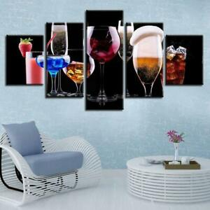 Pick A Drink Canvas Art Print for Wall Decor Wine and Whiskey Scotch Art