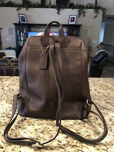 Coach Brown Leather Backpack