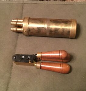 Repro Colt Paterson Powder Charger Flask and 36 caliber bullet mold Dixie Arms