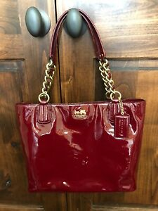 Coach Madison Patent Leather Shoulder Tote