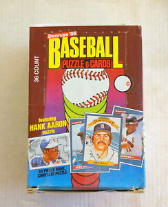 1986 Donruss Baseball Unopened Wax Box