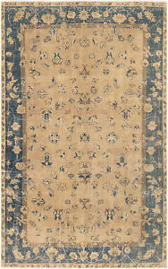 Hand-knotted Turkish Carpet 4'11
