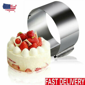 Retractable Circle Adjustable Ring Shape Stainless Steel Mousse Cake Baking Mold