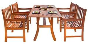 5-Pc Traditional Outdoor Dining Set in Natural [ID 3685200]