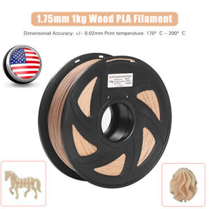 Wood PLA Printer Filament 1kg High-Quality Material Non-Toxic Eco-Friendly P9N2