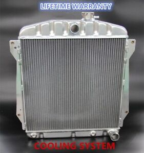 Polished KKS All Aluminum Radiator Fit 1937-1954 Chevy Car V8 engines 3 Rows