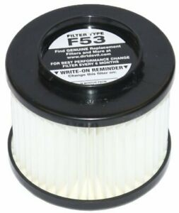 Dirt Devil Style F53 HEPA Filter Pleated Cartridge Assembly for Dynamite Cycloni