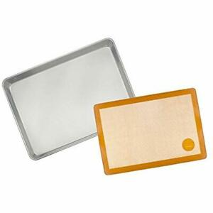 Mrs. Anderson's Baking & Cookie Sheets Non-Stick Silicone Half-Size Mat And Pan