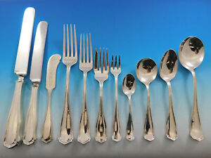 Winchester by Shreve Sterling Silver Flatware Set Service 149 pc Dinner in Box