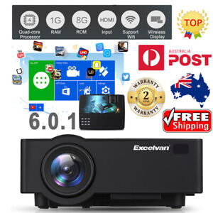 5000Lumens Outdoor LED LCD Projector Full HD Video Home Theatre HDMI USB bundle