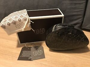 New with Tag & Box Rafe New York Designer Faceted Shell Oyster Clutch Bag RARE