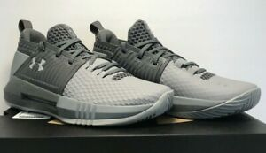 Under Armour Mens 9.5 Womens 11 UA Drive 4 Low Basketball Shoes Gray 3000086 110