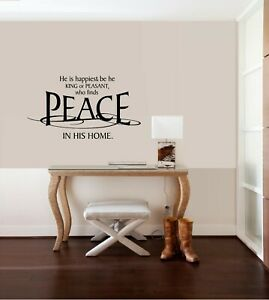 King Peasant Peace Vinyl Wall Decal Sticker Home Decor Family