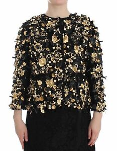 Dolce Gabbana Black Gold Crystal SPECIAL PIECE Jacket