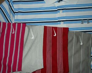 Lot 5 Under Armour Nike Dri-Fit Fit-Dry Mens Polo Shirts L Large 1 NWOT