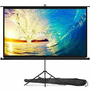 Projector Screen Projection Screens With Stand 84 Inch - Indoor Outdoor For 169
