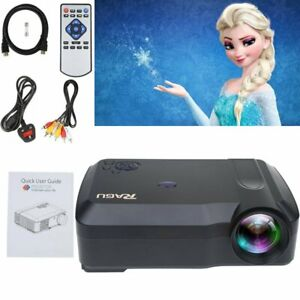 1080P Portable HDMI Video Projector Projection Home Film Camping Meeting USB US