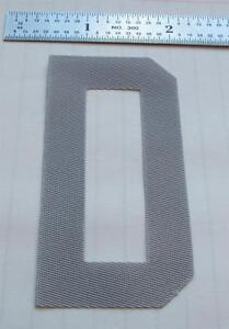 SEWING of ONE 3quot; Twill Letter to be sewn onto a Nameplate typically for a jersey $2.00